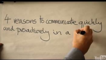 Four reasons to communicate quickly and proactively in a crisis