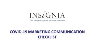 COVID-19 Marketing Communication Checklist