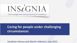 WEBINAR - Caring for People Under Challenging Circumstances: Key Principles